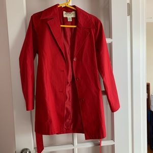 Oversized Red trench coat